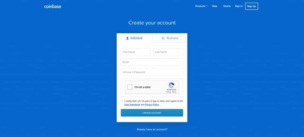 Coinbase login