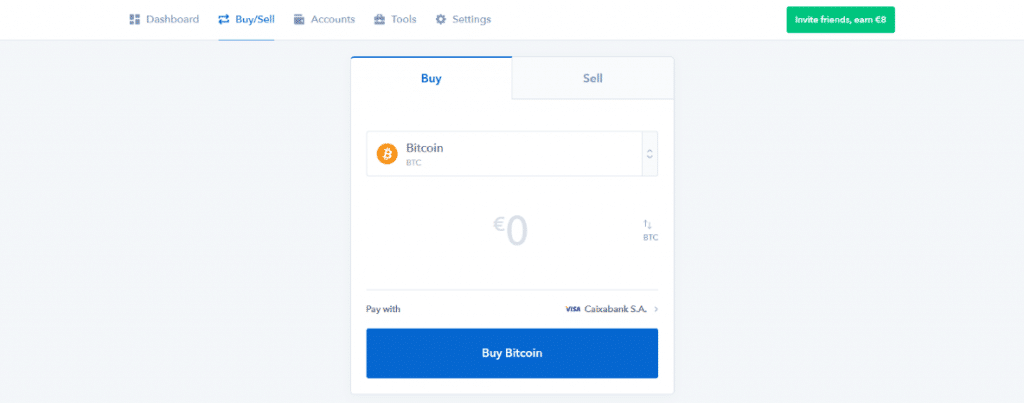 buying bitcoin on coinbase