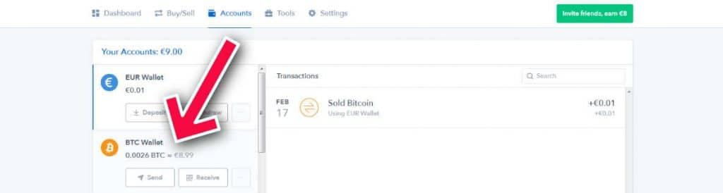 bitcoin wallet on coinbase