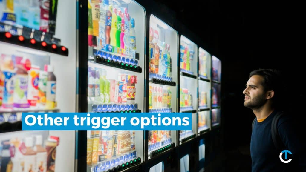 other trigger options in cryptohopper